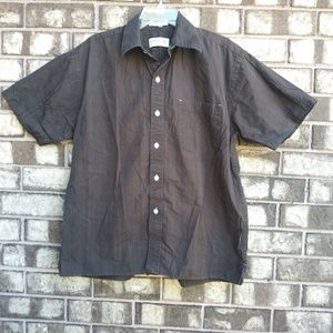 Orvis men's size large brown button down shirt
